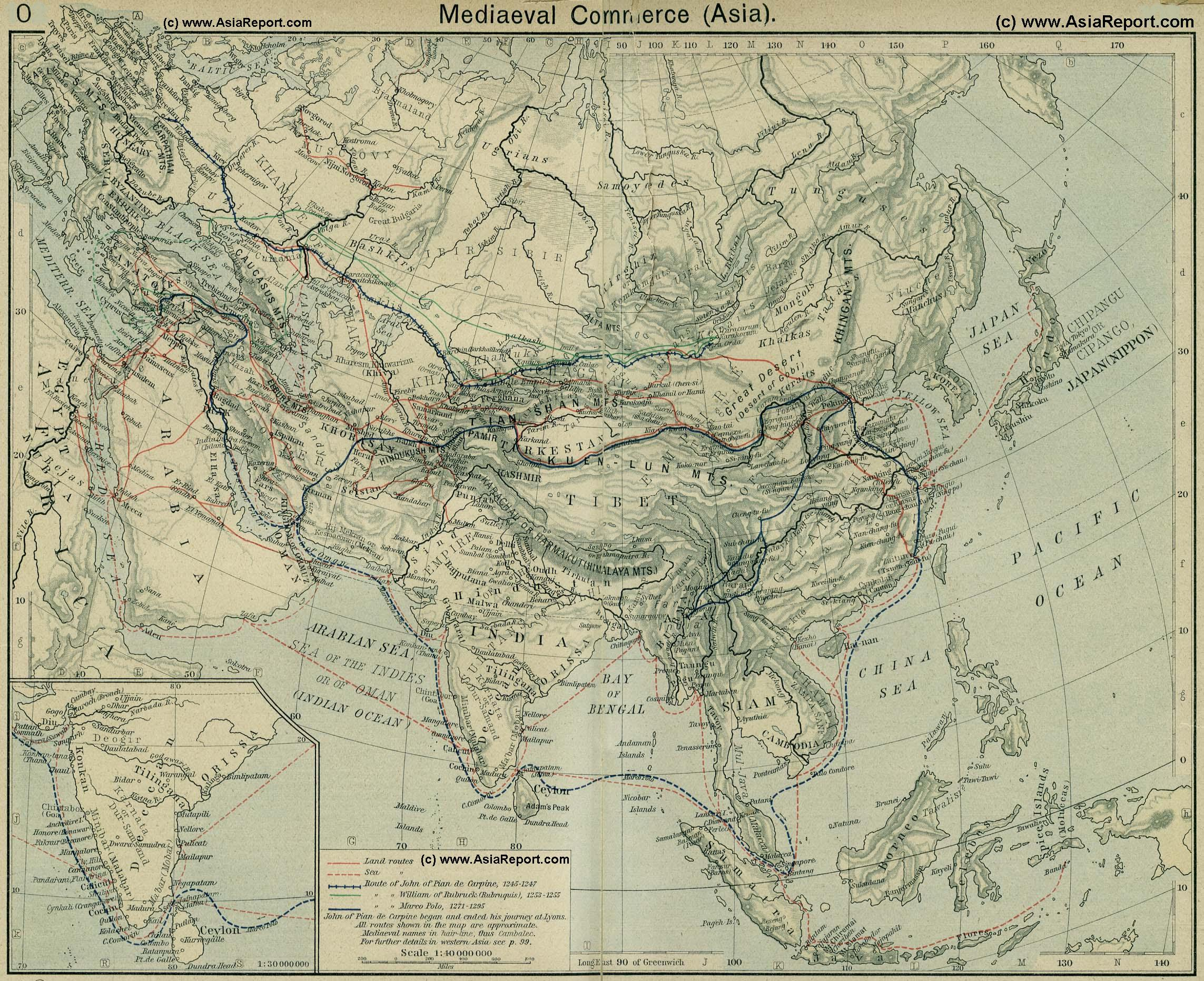 Map eurasian trade routes in the 13th century 1a by china report gumiabroncs Images