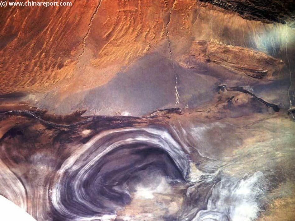 Satellite View of Lop Nor North Basin and Tarim Kunqi