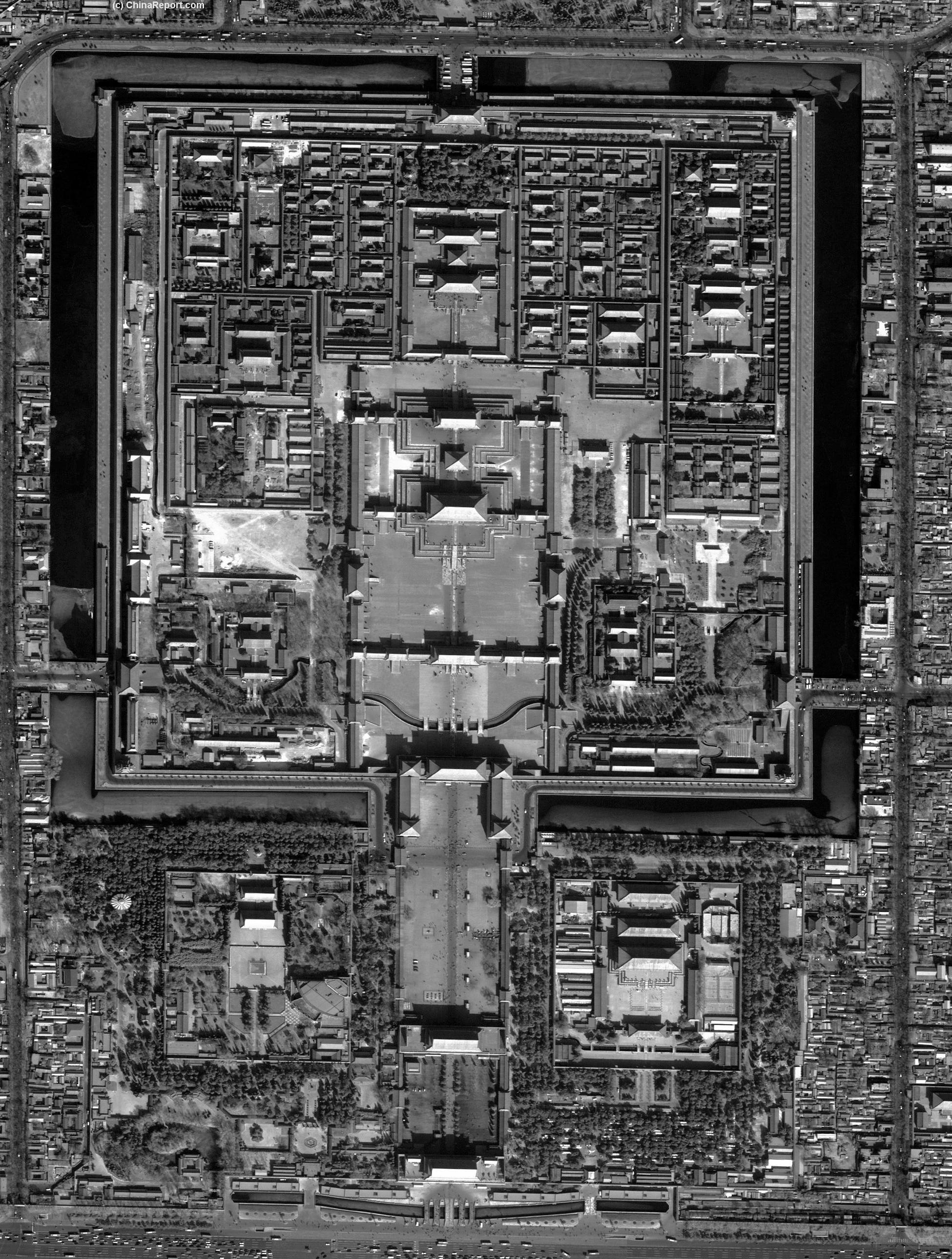 Beijing Forbidden City Map detailed Palace Museum Map by The