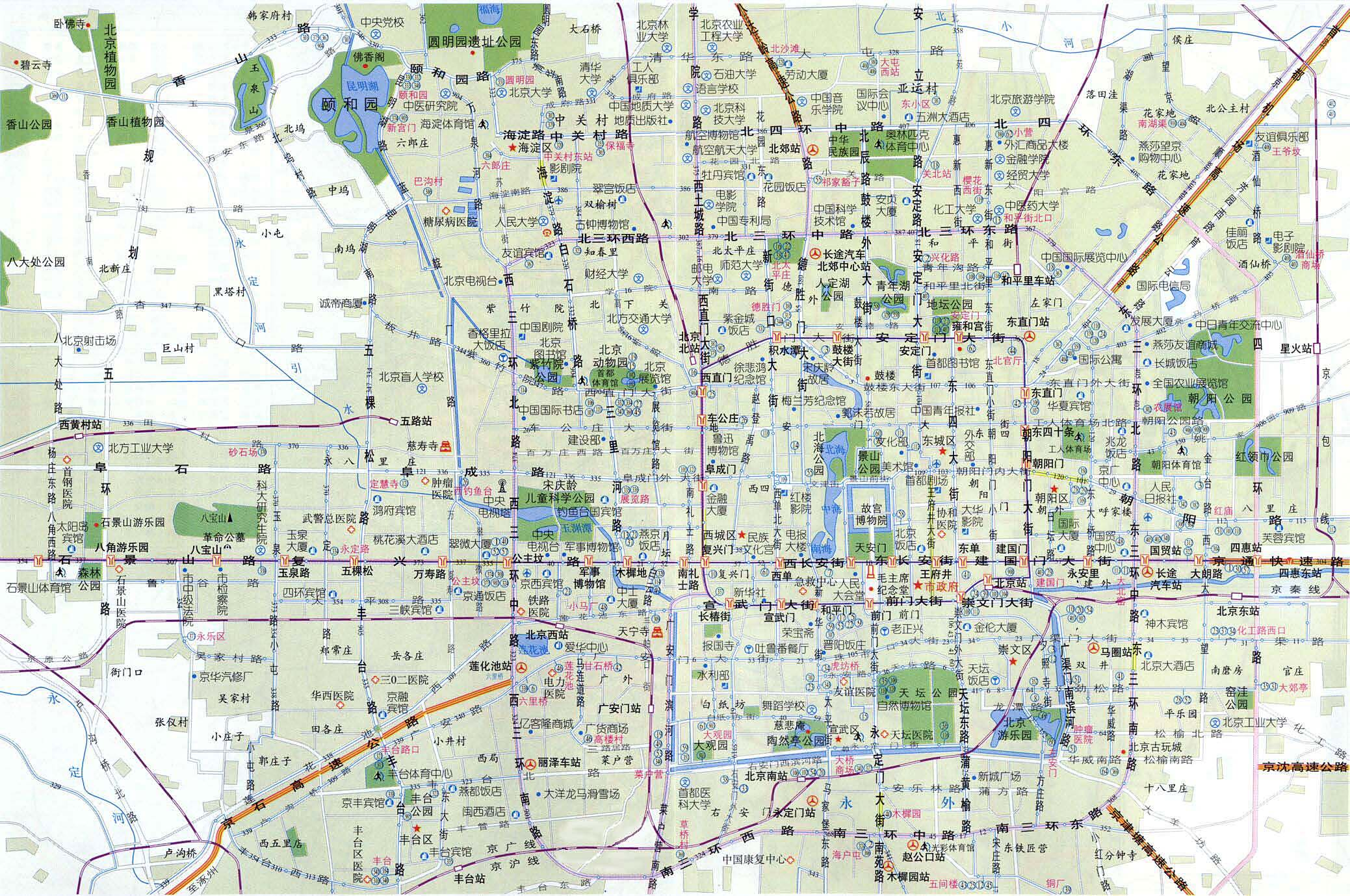 Beijing City Center all areas within 3Rd Ring Road Map 02