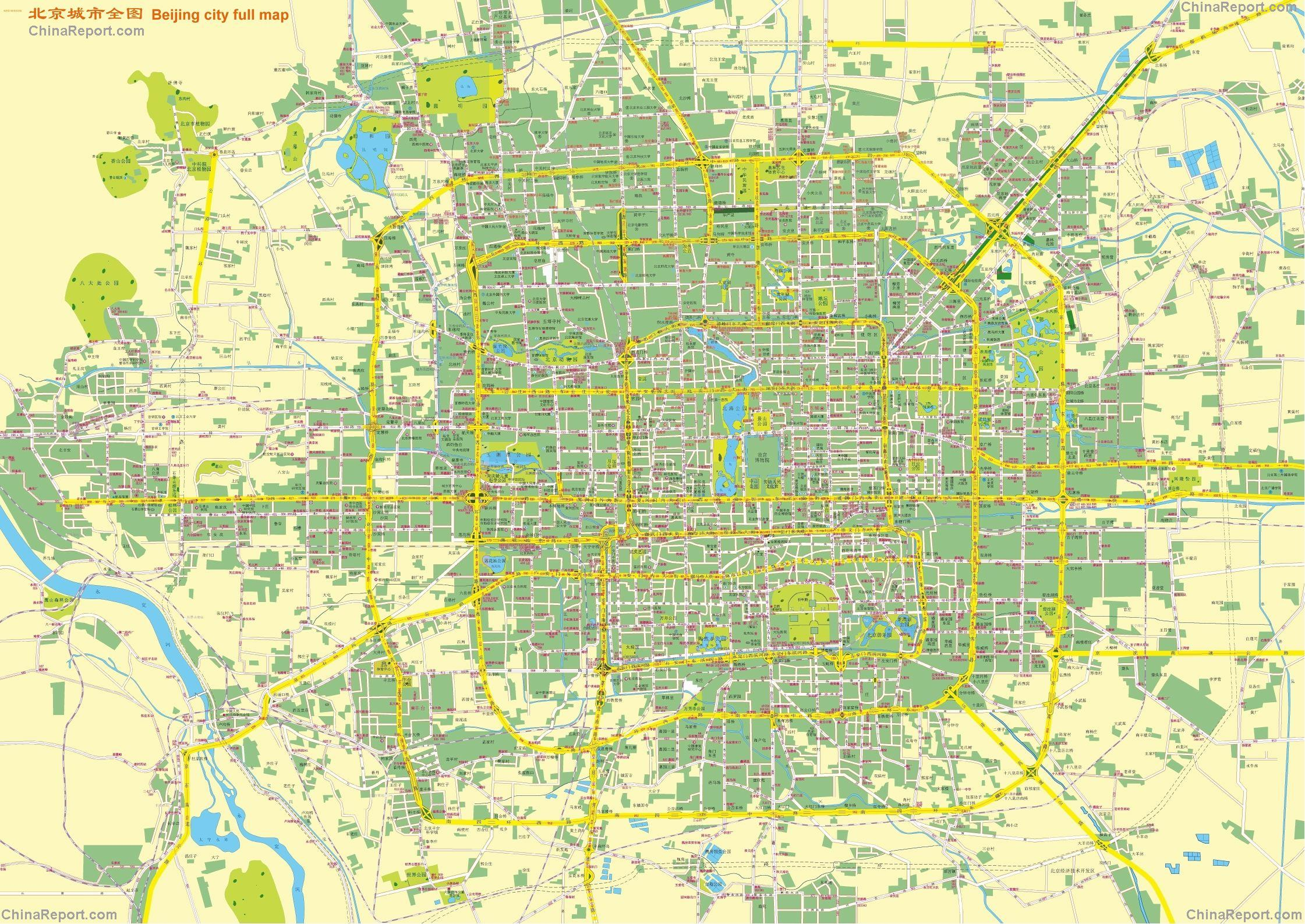 Beijing City Complete and Full Map (overview city entire), by ...