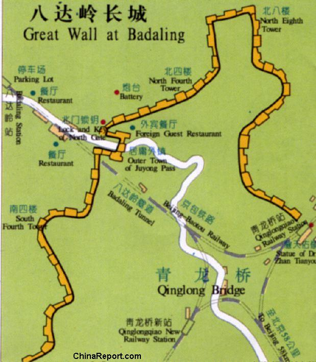 Beijingbadaling great wall of china full site map trainstation gumiabroncs Gallery