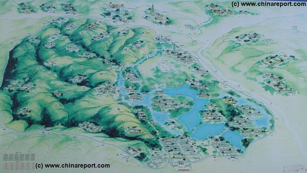 Hebei ProvinceChengdeChengde Maps Imperial Palace Overview Map - Chengde map