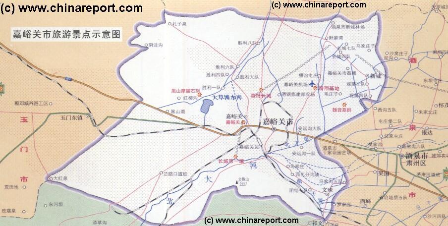 Gansu China Map.Gansu Province Jiayuguan City Maps Jiayuguan City Map 1a