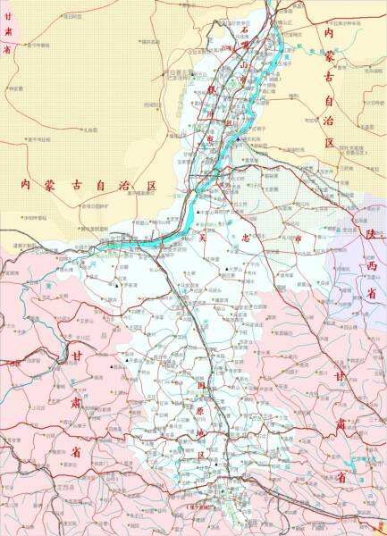 Click to Go to Large Scale Schematic Map 2A NingXia Province