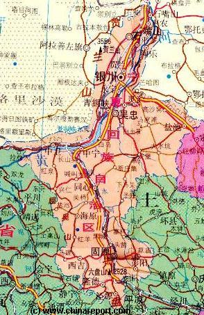 Click to Go to Large Scale Map 1A NingXia Province