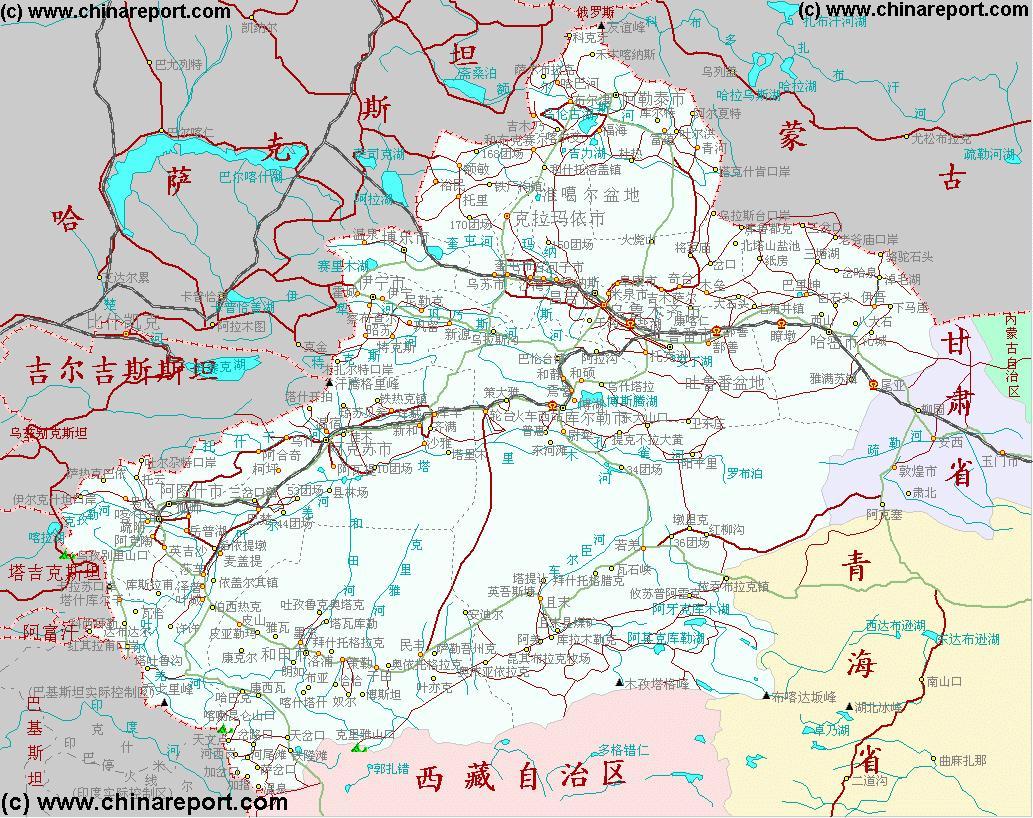 Map Xinjiang.Xinjiang Uygur Autonomous Region China Xinjiang Uygur Ar Map 1a