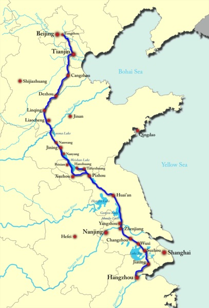 Main Rivers Lakes And Waterways Of Hebei Province Of China - China rivers map