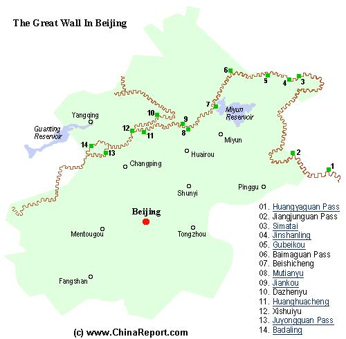 See + Browse ALL Great Wall Locations near Beijing !!