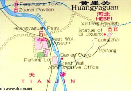 Tianjin city province great wall of china maps index by china report click map to go to huangyaguan site gumiabroncs Gallery