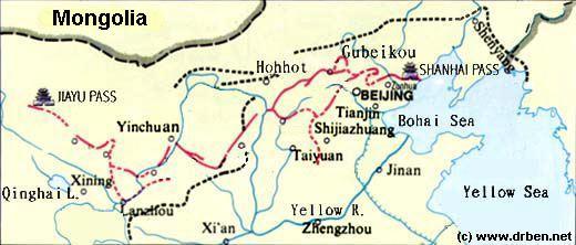 gele rivier china kaart