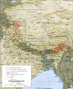 Geographic Overview Tibet & Neighboring regions.