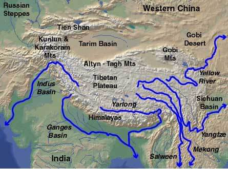Osl hookup of sediments from deserts in northern china