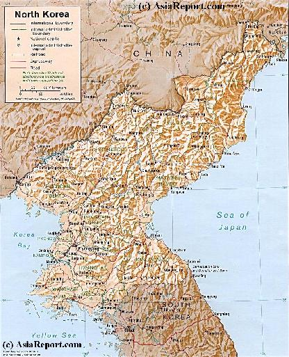 china north korea map. Click Map to go to Full