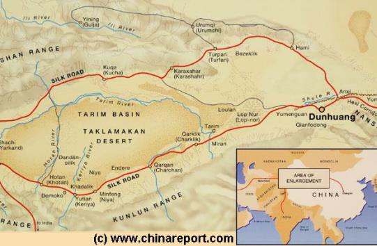 Go view the Map of Dunhuang + Area !