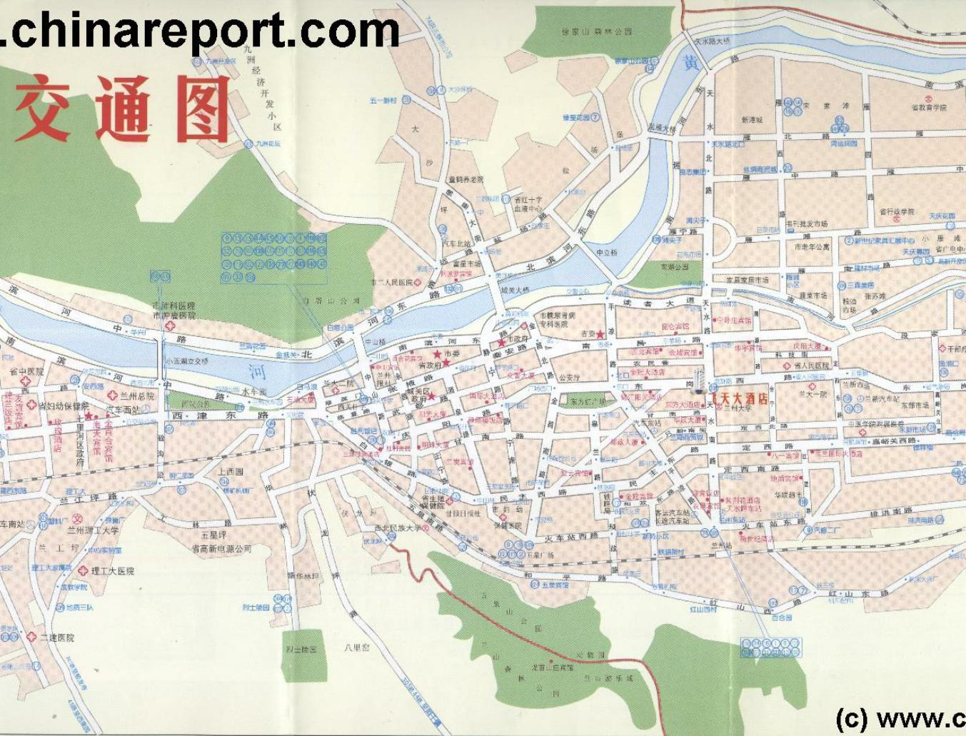 Map Lanzhou City