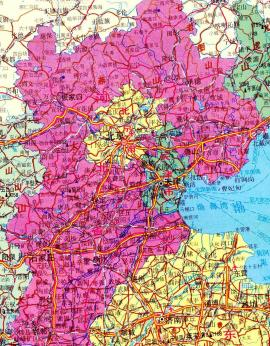 Overview Hebei Province, Tianjin- and Beijing City Provinces