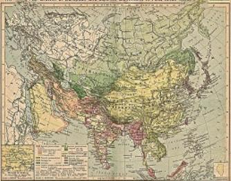 Map China and Far East Colonies after 1801 AD
