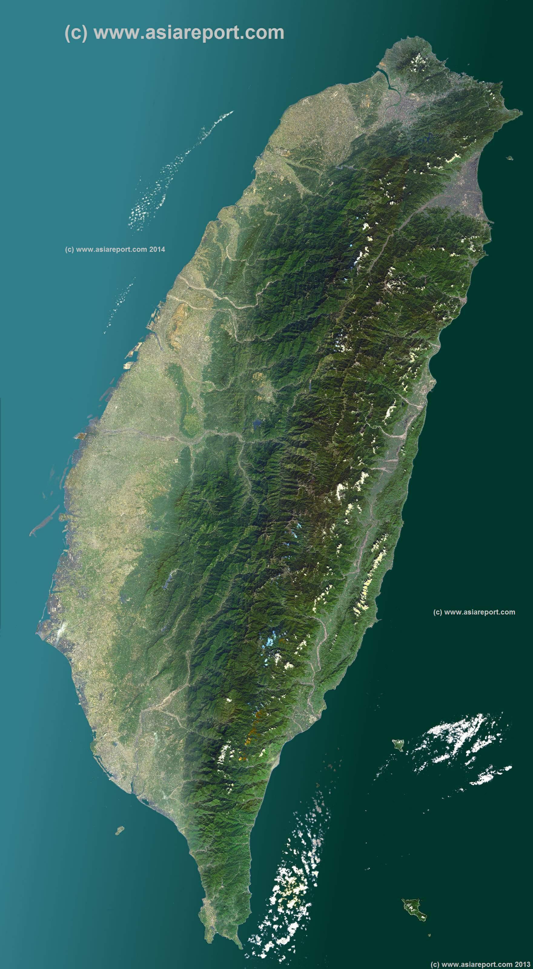 Map Asia Taiwan Satellite Map Taiwan Version - Asia satellite map